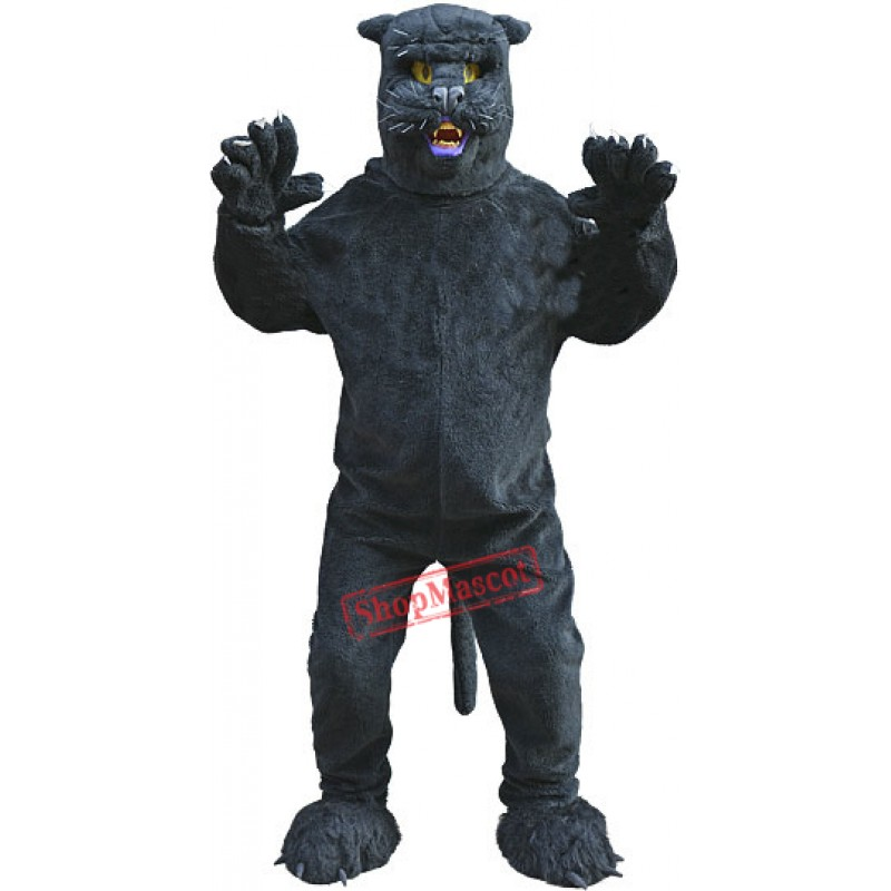 Sleek Black Panther Mascot Costume