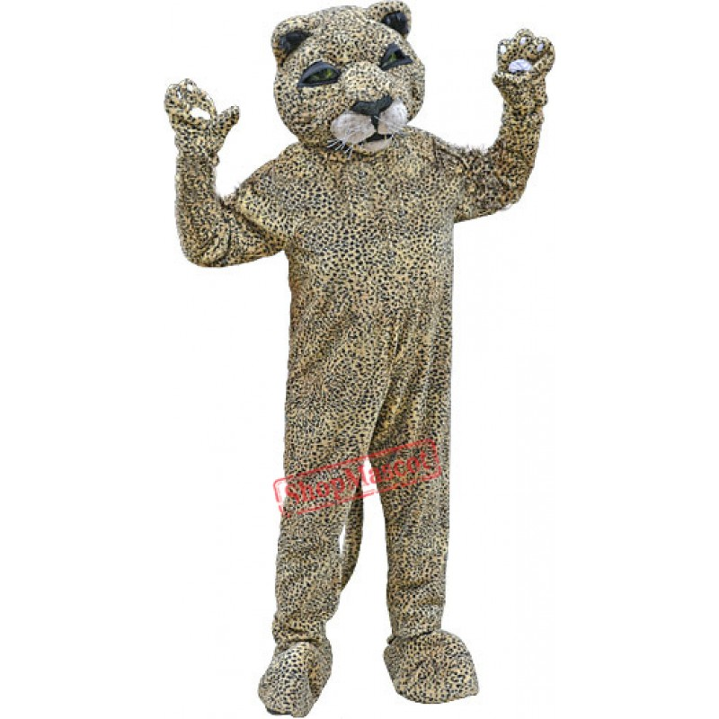 Spotted Brown Leopard Mascot Costume