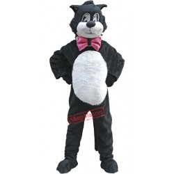 Black White Cartoon Cat Mascot Costume