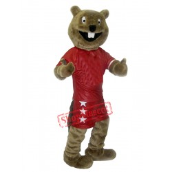 Happy Beaver Mascot Costume Free Shipping