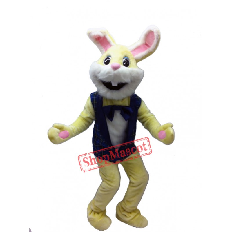 Yellow Bunny Mascot Costume