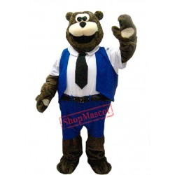 Worker Bear Mascot Costume