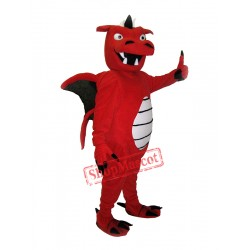Red Dragon Mascot Costume For Adult