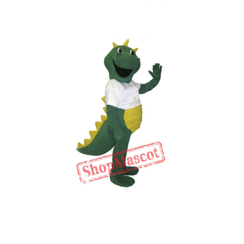 Happy Green Dragon Mascot Costume