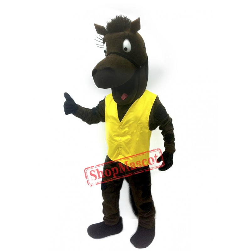 Happy Horse Mascot Costume