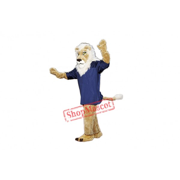 High School Lion Mascot Costume For Adult