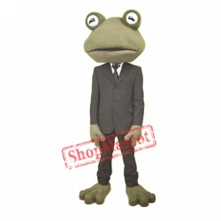 High Quality Gentleman Frog Mascot Costume