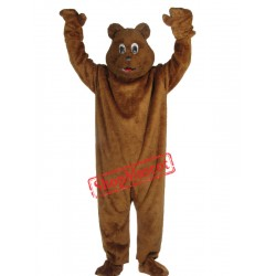 Happy Realistic Brown Bear Mascot Costume