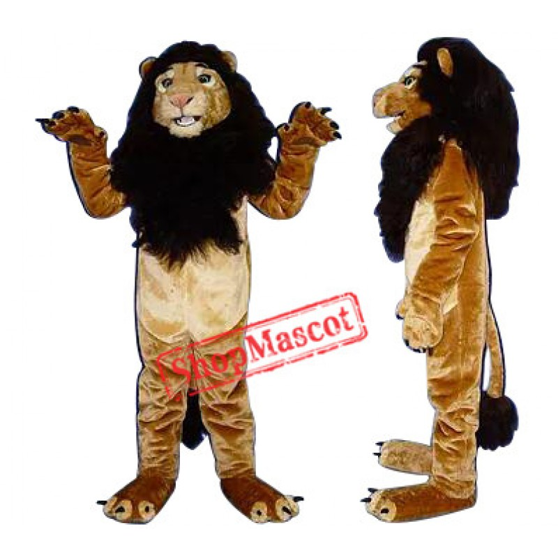 Happy King Lion Mascot Costume