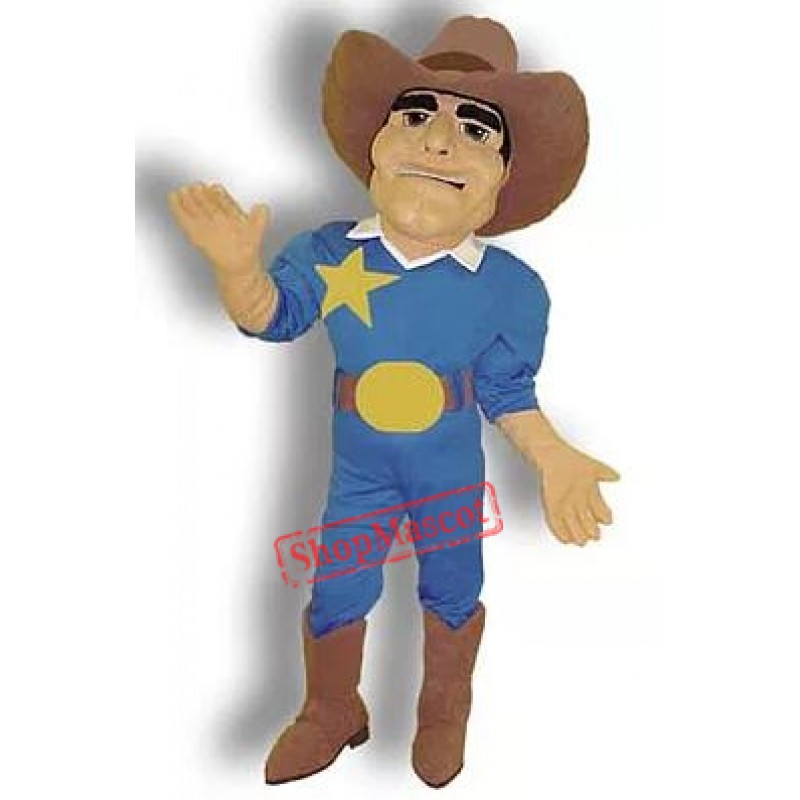 High Quality Cowboy Mascot Costume Free Shipping
