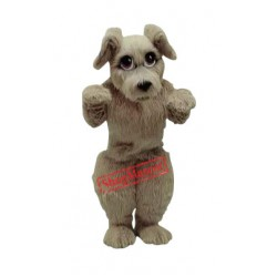 Cute Furry Dog Mascot Costume
