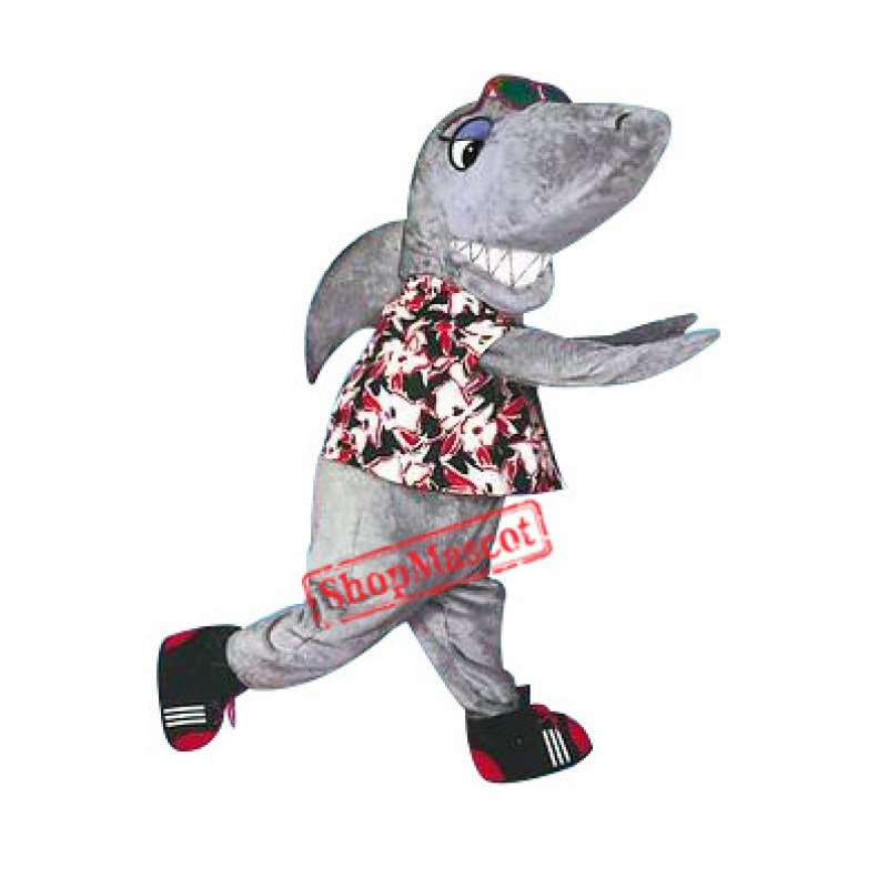 Friendly Shark Mascot Costume