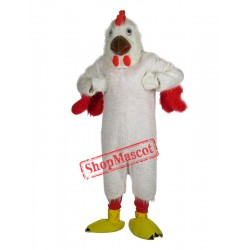 High Quality White Chicken Mascot Costume