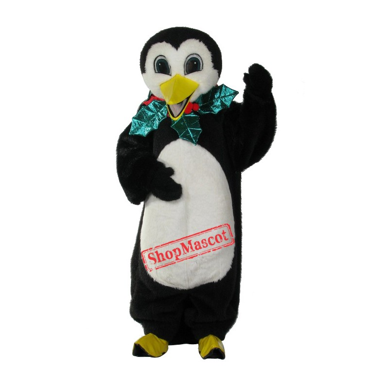 Holiday Penguin Mascot Costume