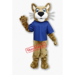Friendly Wildcat Mascot Costume