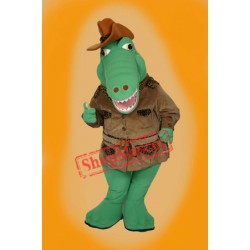 Winter Alligator Mascot Costume