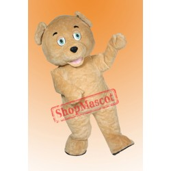 Golden Brown Teddy Bear Mascot Costume