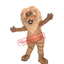 Realistic Furry Lion Mascot Costume