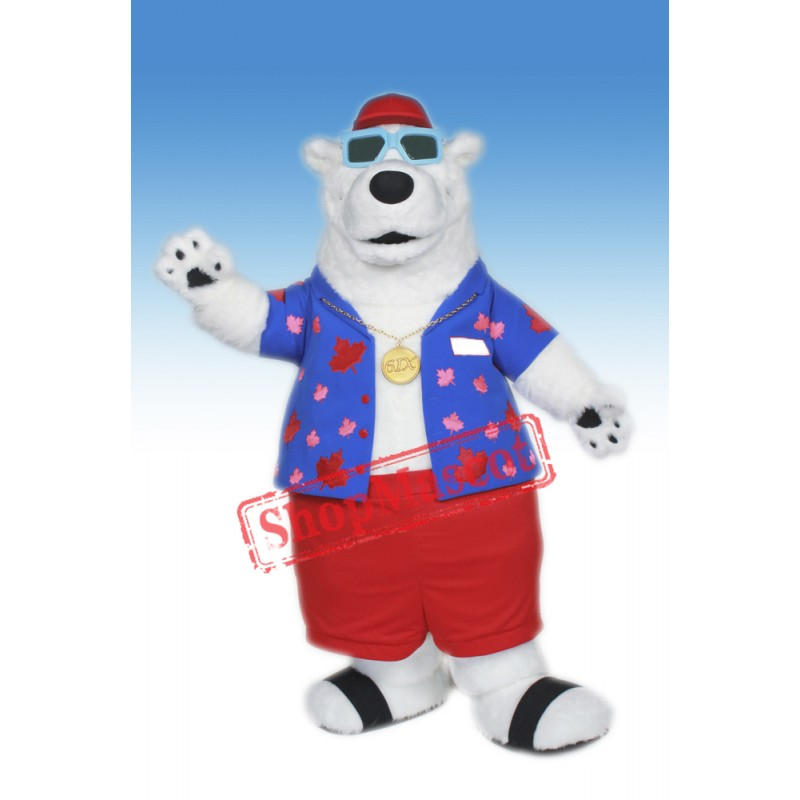 Cool Polar Bear Mascot Costume