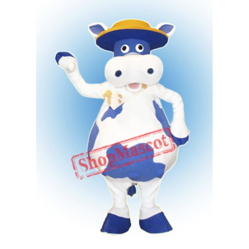 Blue Cow Mascot Costume