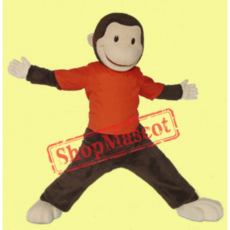 Curious George Monkey Mascot Costume