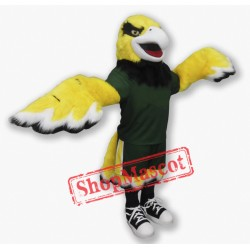 Yellow Hawks Mascot Costume