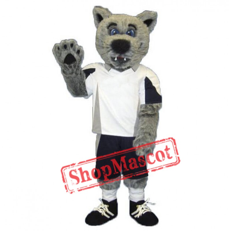 Grey Coyote Wolf Mascot Costume