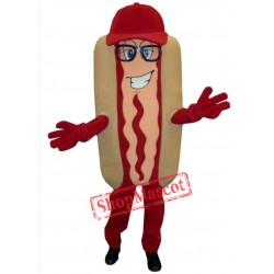 Happy Hotdog Mascot Costume