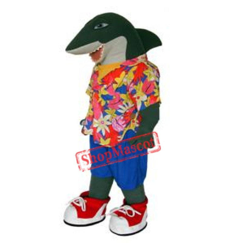 College Lightweight Shark Mascot Costume