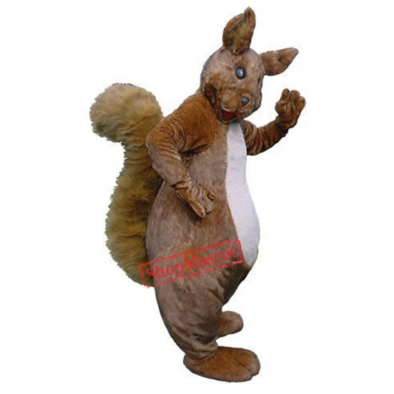High Quality Furry Squirrel Mascot Costume