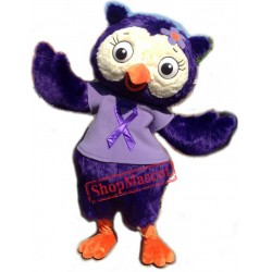 Beautiful Purple Owl Mascot Costume