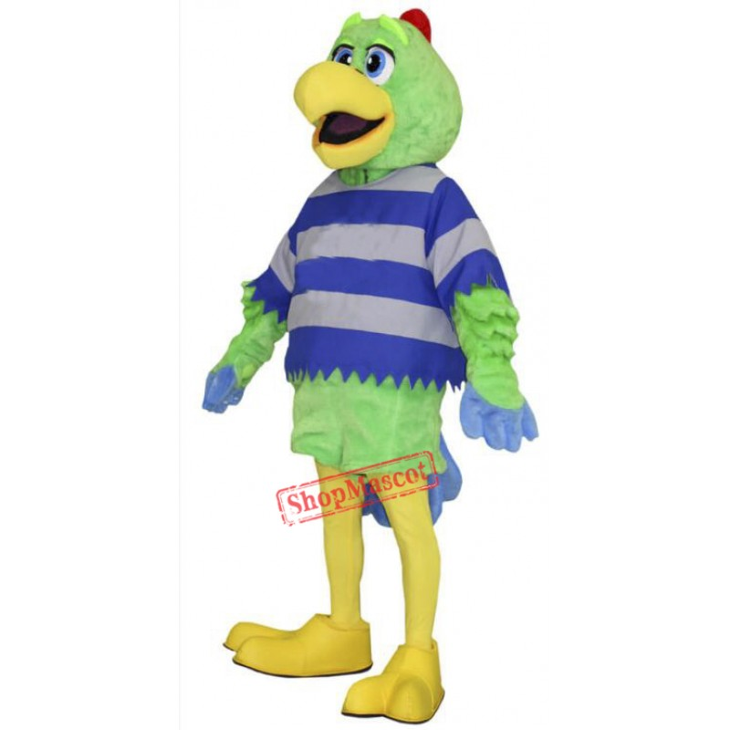 Fashion Green Parrot Mascot Costume