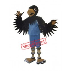 High Quality Black Hawk Mascot Costume
