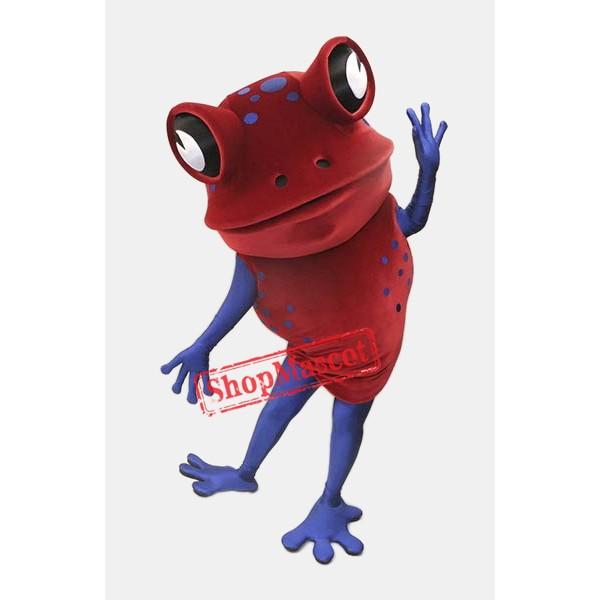 Red Frog Mascot Costume