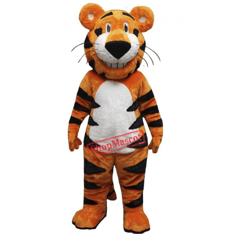Happy Lightweight Tiger Mascot Costume