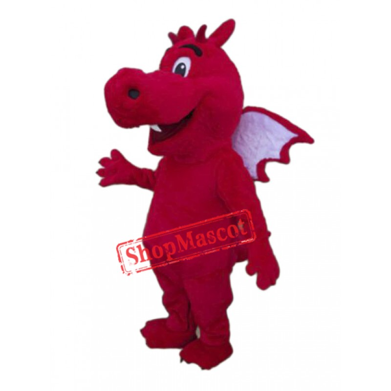 Red Lightweight Dragon Mascot Costume