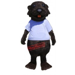 High Quality Sporty Beaver Mascot Costume