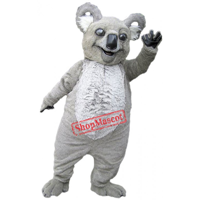 Grey Lightweight Koala Mascot Costume