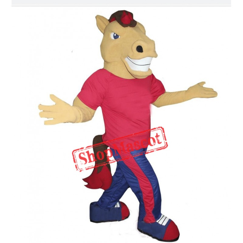 College Lightweight Horse Mascot Costume
