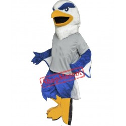 Blue & White Eagle Mascot Costume