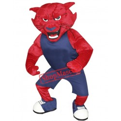 Red Bearcat Mascot Costume Free Shipping