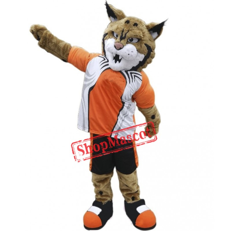 College Lightweight Bobcat Mascot Costume