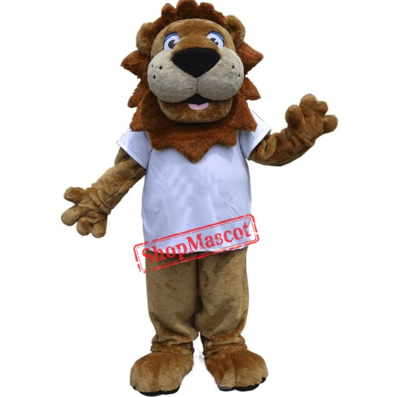 Happy Lightweight Lion Mascot Costume
