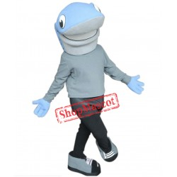 Blue Lightweight Shark Mascot Costume