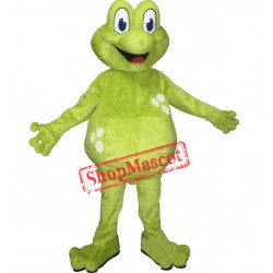 Green Lightweight Frog Mascot Costume