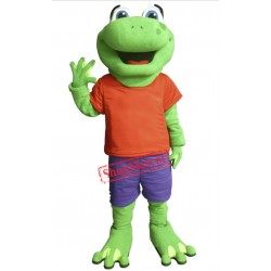 Happy Lightweight Frog Mascot Costume