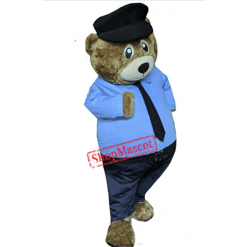 Police Bear Mascot Costume Free Shipping