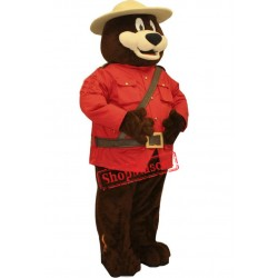 Safety Bear Mascot Costume