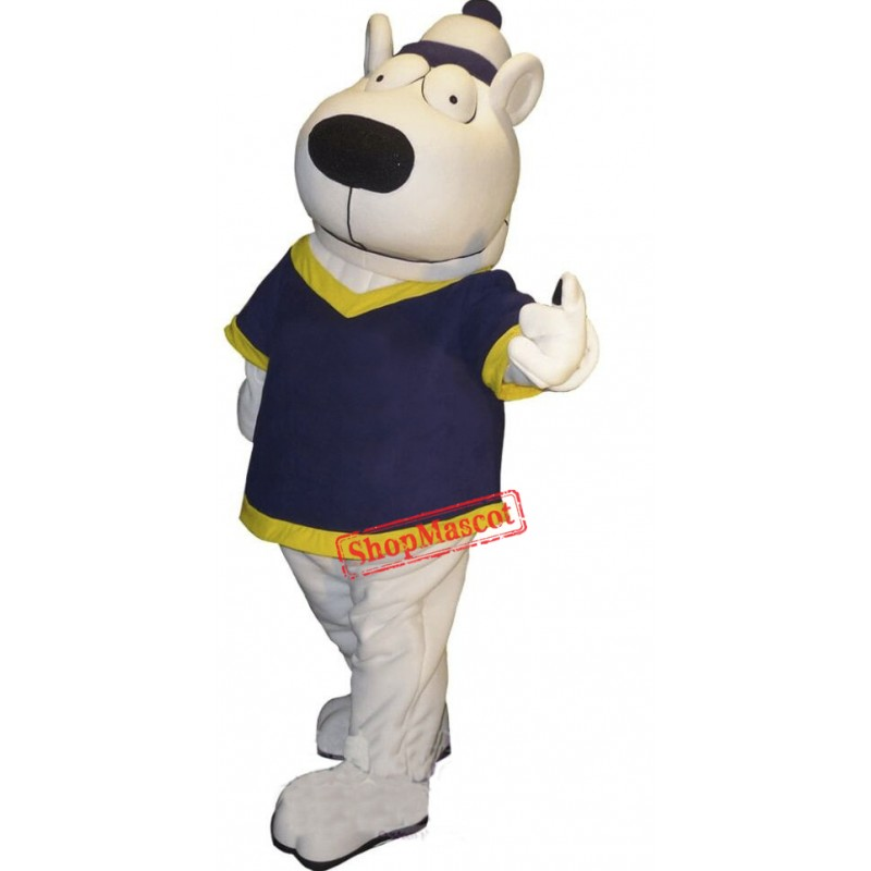 Big Eye White Bear Mascot Costume