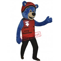 Friendly Blue Lightweight Bear Mascot Costume